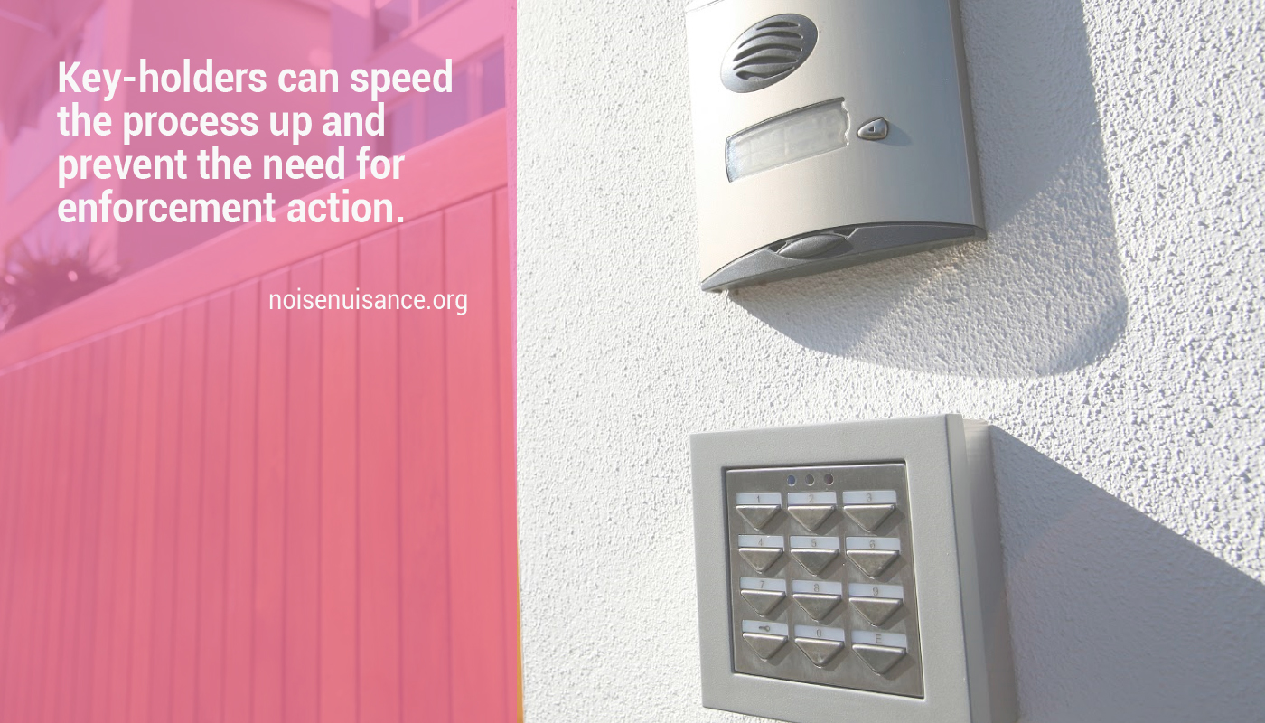 Noise from intruder or burglar alarms.