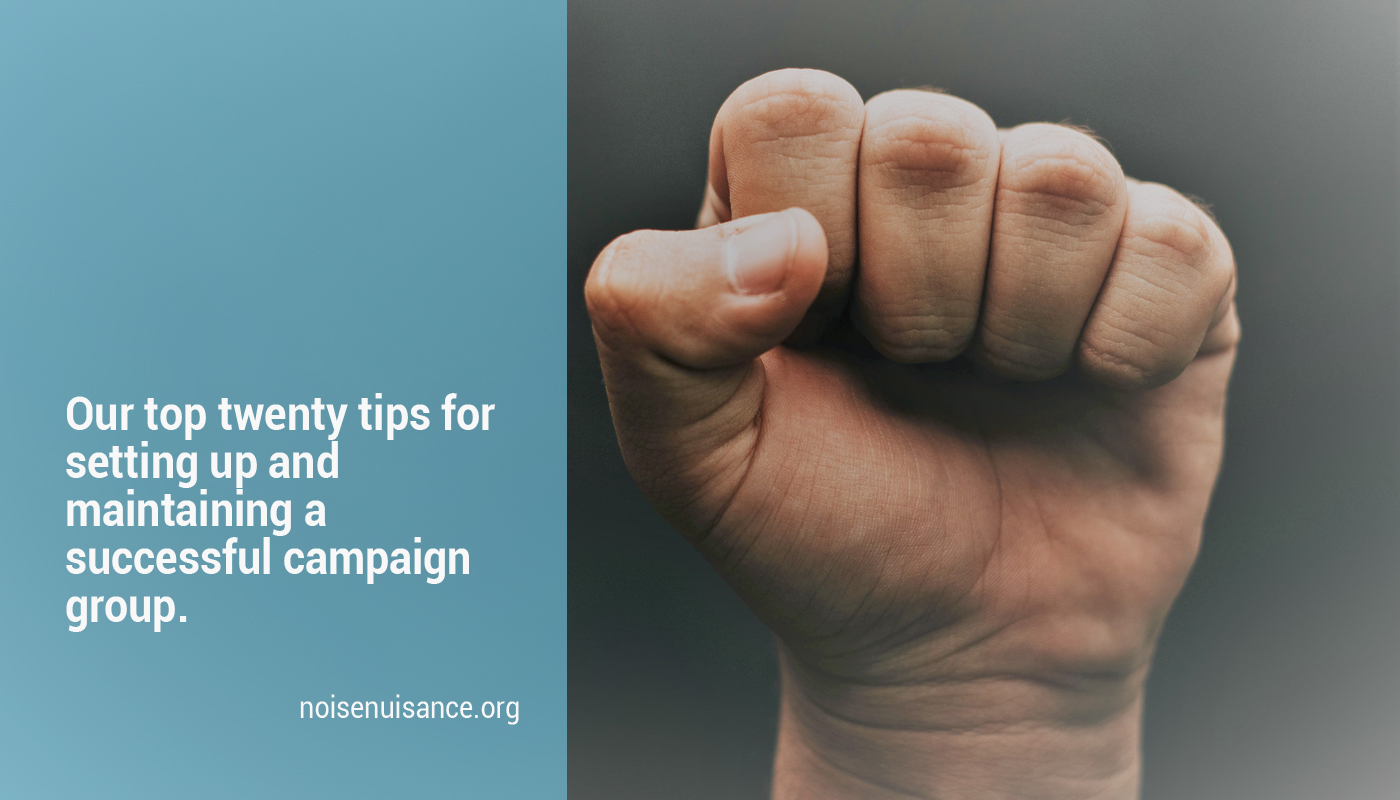How to set up a campaign group